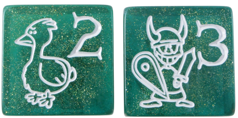 Munchkin Dice W10//D10-Pearl Lime Green-Jumbo 34 MM-XXL Stages Counter