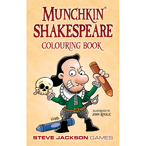 Munchkin Shakespeare Colouring Book cover