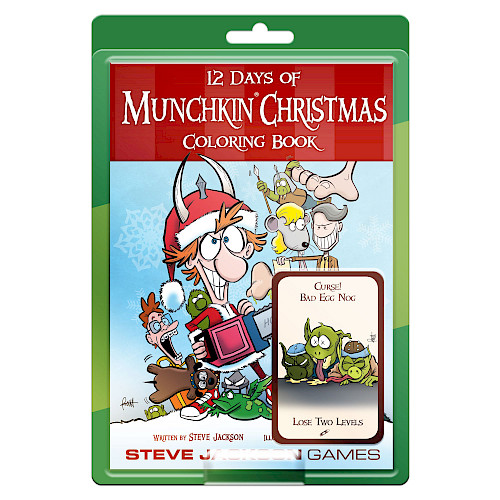 12 Days of Munchkin Christmas Coloring Book cover