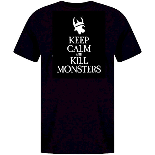 Keep Calm and Kill Monsters T-shirt cover