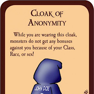 Cloak of Anonymity Munchkin Promo Card cover