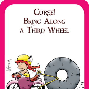 Curse! Bring Along a Third Wheel Munchkin Promo Card cover