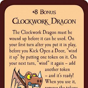 Clockwork Dragon Munchkin Promo Card cover
