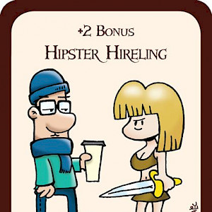 Hipster Hireling Munchkin Promo Card cover