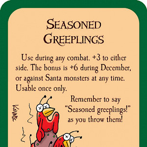 Seasoned Greeplings Munchkin Promo Card cover