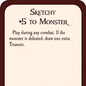 Sketchy Munchkin Promo Card cover