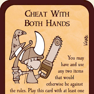 Cheat with Both Hands Munchkin Promo Card cover