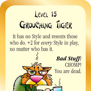 Grouching Tiger Munchkin Fu Promo Card cover