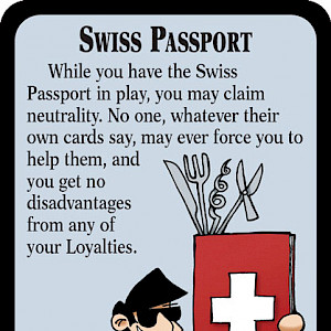 Swiss Passport Munchkin Impossible Promo Card cover