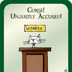 Curse! Unjustly Accused! Munchkin Promo Card cover