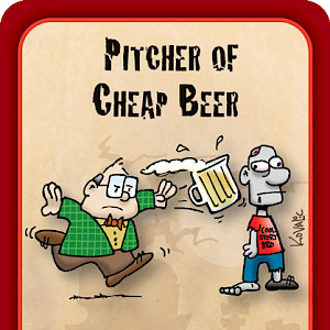 Pitcher of Cheap Beer Munchkin Zombies Promo Card cover