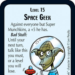 Space Geek Star Munchkin Promo Card cover
