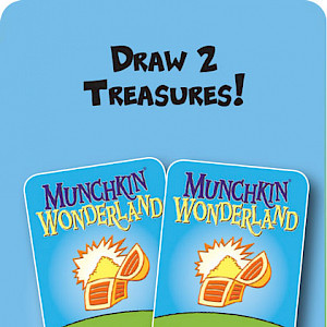 Draw 2 Treasures Munchkin Wonderland Promo Card cover