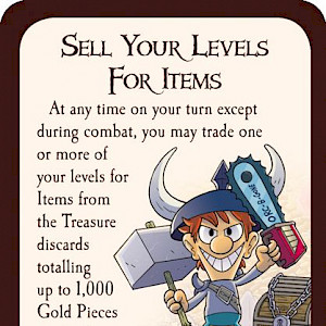Sell Your Levels For Items Munchkin Promo Card cover