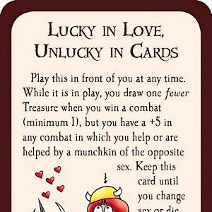 Lucky in Love, Unlucky in Cards Munchkin Promo Card cover