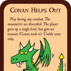 Conan Helps Out Munchkin Promo Card cover
