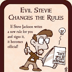 Evil Stevie Changes the Rules Munchkin Promo Card cover