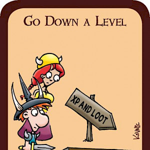 Go Down a Level Munchkin Promo Card cover