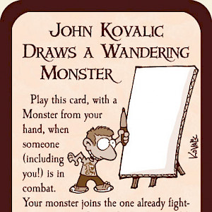 John Kovalic Draws a Wandering Monster Munchkin Promo Card cover