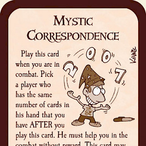 Mystic Correspondence Munchkin Promo Card cover