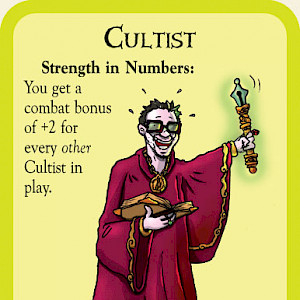 Cultist Munchkin Cthulhu Promo Card cover