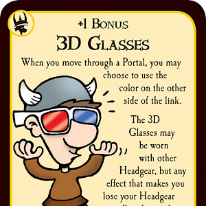 3D Glasses: Munchkin Quest Promo Card cover