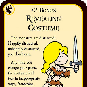 Revealing Costume Munchkin Quest Promo Card cover