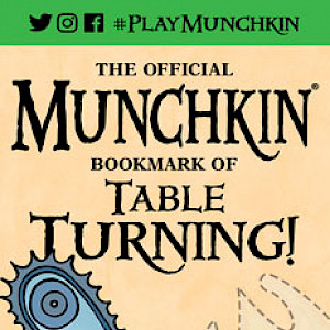 The Official Munchkin Bookmark of Table Turning! cover