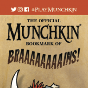 The Official Munchkin Bookmark of BRAAAAAAAAINS! cover