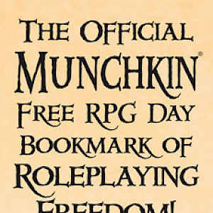 The Official Munchkin Free RPG Day Bookmark of Roleplaying Freedom! cover
