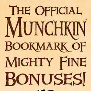 The Official Munchkin Bookmark of Mighty Fine Bonuses! cover
