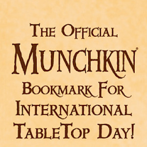 The Official Munchkin Bookmark for International TableTop Day! cover