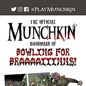 The Official Munchkin Zombies Bookmark of Bowling for Braaaaiiinns! cover