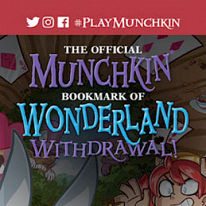 The Official Munchkin Bookmark of Wonderland Withdrawal cover