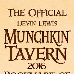 The Official Devin Lewis Munchkin Tavern 2016 Bookmark of Super Tasting! cover