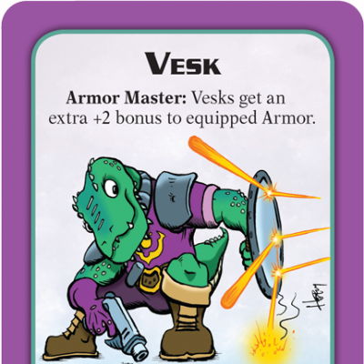 Munchkin Starfinder Preview: Vesk cover