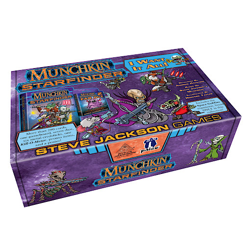 Munchkin Starfinder I Want It All! cover