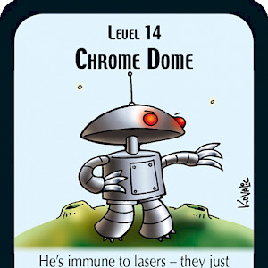 Chrome Dome Star Munchkin Promo Card cover
