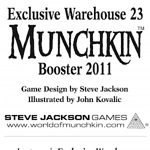 Exclusive Warehouse 23 Munchkin Booster 2011 cover