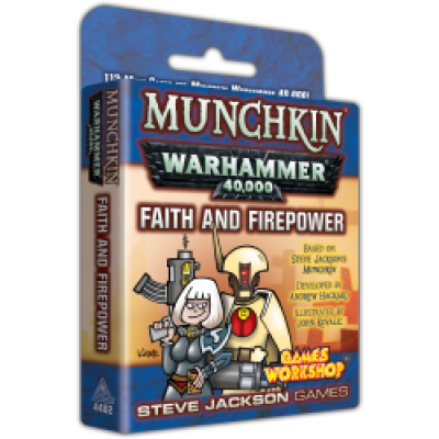 Design Diary: New Frontiers - A Peek Inside Munchkin Warhammer 40,000: Faith and Firepower cover