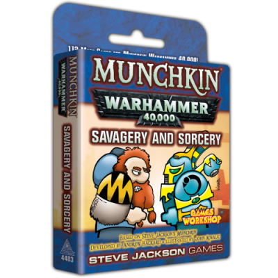 Design Diary - A Peek Inside Munchkin Warhammer 40,000: Savagery and Sorcery cover