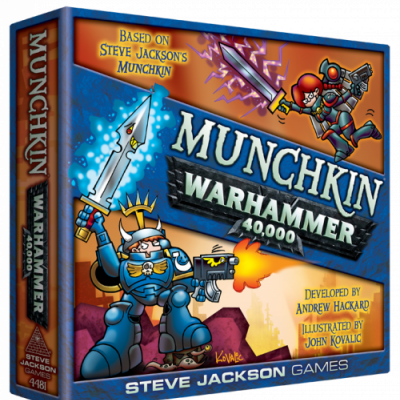 Design Diary: 1,000 Words (Give or Take) About Working With John Kovalic on Munchkin Warhammer 40,000 cover