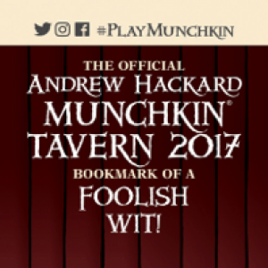 The Official Andrew Hackard Munchkin Tavern 2017 Bookmark of a Foolish Wit! cover
