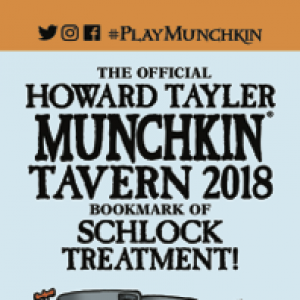 The Official Howard Tayler Munchkin Tavern 2018 Bookmark of Schlock Treatment! cover