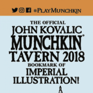The Official John Kovalic Munchkin Tavern 2018 Bookmark of Imperial Illustration! cover