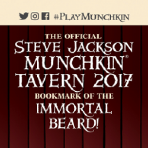 The Official Steve Jackson Munchkin Tavern 2017 Bookmark of the Immortal Beard! cover