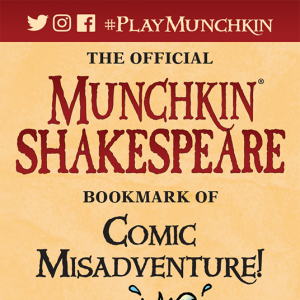 The Official Munchkin Shakespeare Bookmark of Comic Misadventure! cover