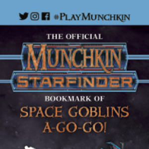 The Official Munchkin® Starfinder® Bookmark of Space Goblins a-Go-Go! cover