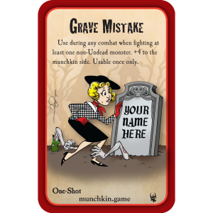 Grave Mistake Munchkin Zombies Promo Card cover