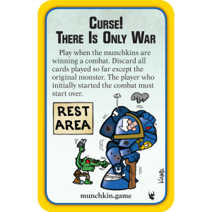 Curse! There Is Only War Munchkin Warhammer 40,000 Promo Card cover